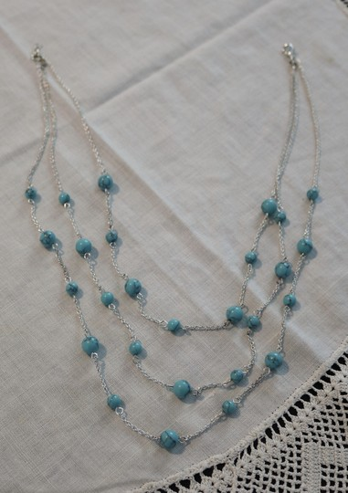 Other Silver & Turquoise Layered Necklace Image 4