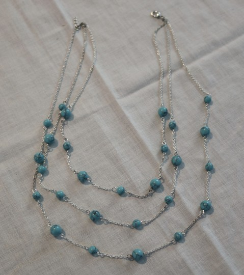 Other Silver & Turquoise Layered Necklace Image 5