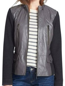 Bernardo Leather Wool Leather S Grey Jacket