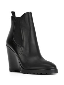 Michael Kors Leather Wedge black Boots