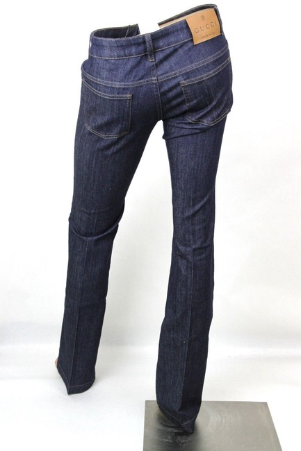 Gucci Denim 70's 338501 Skinny Pants Blue Image 3