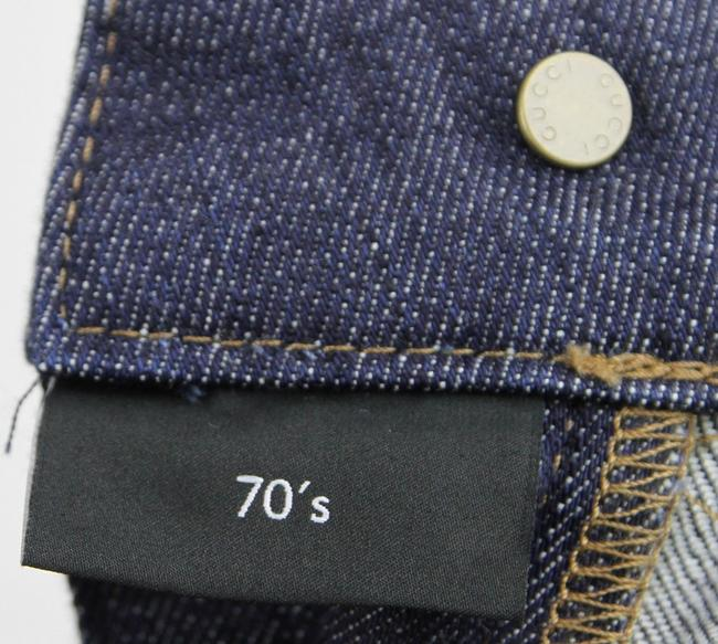 Gucci Denim 70's 338501 Skinny Pants Blue Image 4