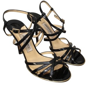Jimmy Choo Black and Gold Formal