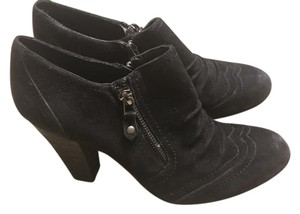 Franco Fortini Suede Zippers Weathered black Boots