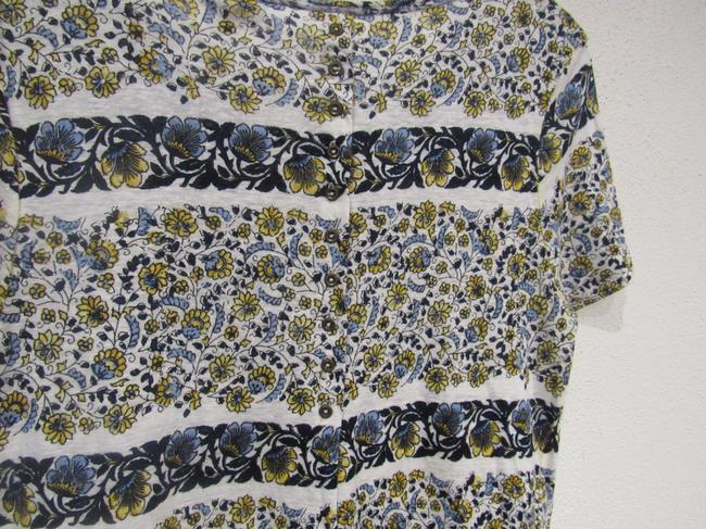 Lucky Brand T Shirt White, Blue, Yellow Image 5