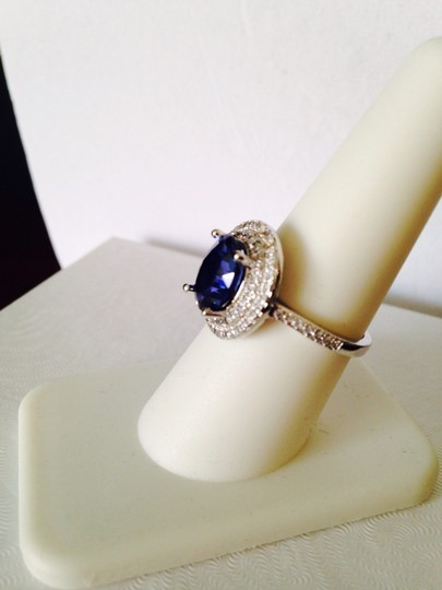 Other NWOT Sapphire & White Cubic Zirconia In Sterling No Silver, Size 8