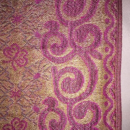 Other Indian Motif Woven Wrap \ Scarf; Glimmer Textile [ Roxanne Anjou Closet ]