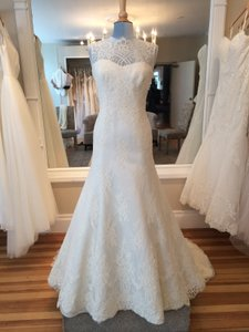 Augusta Jones Cream Lace Sophia Formal Wedding Dress Size 12 (L)