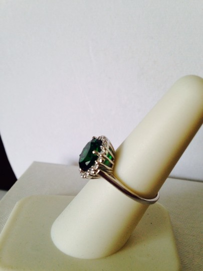 Other NWOT Faceted Emerald & White Cubic Zirconia In Sterling Silver, Size 7