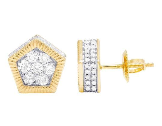 Preload https://img-static.tradesy.com/item/22171904/jewelry-unlimited-10k-yellow-gold-diamond-3d-pentagon-cluster-stud-085-ct-10mm-earrings-0-0-540-540.jpg