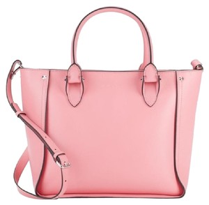 Alexander McQueen Inside Out Leather Tote in Pink