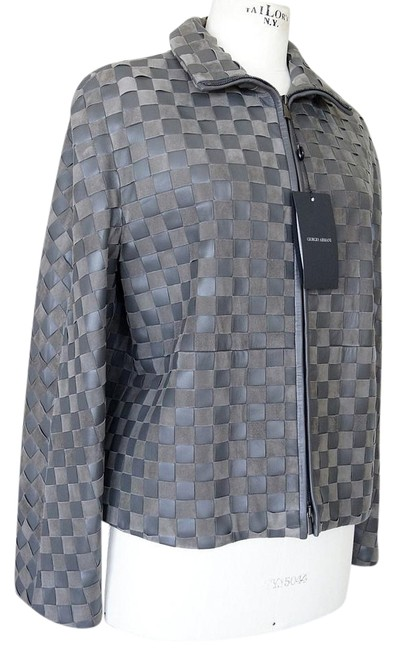 Preload https://img-static.tradesy.com/item/22172035/giorgio-armani-gray-woven-leather-and-suede-taupey-48-size-12-l-0-1-650-650.jpg