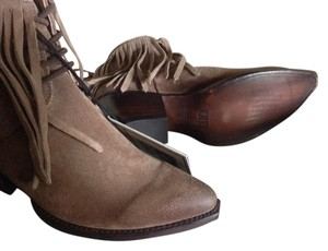 Frye Fringed Ankle ASH Suede Boots