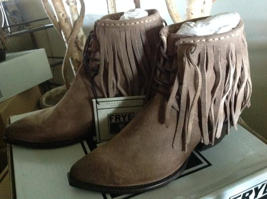 Frye Fringed Ankle ASH Suede Boots Image 1