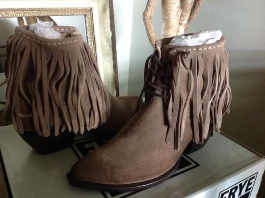 Frye Fringed Ankle ASH Suede Boots Image 2