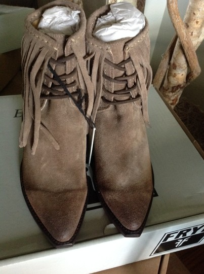 Frye Fringed Ankle ASH Suede Boots Image 3