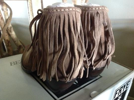 Frye Fringed Ankle ASH Suede Boots Image 4