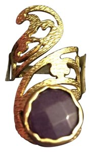 Queen Esther Etc Women's Pinky Ring With Purple Jade Stone
