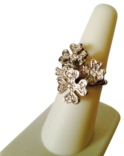 Embellishwd by Leecia NWOT 4 Leaf Clover/Hearts Cubic Zirconia In Sterling Silver , Size 7