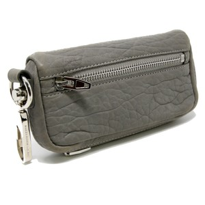 Alexander Wang Signature Small Fumo Continental Pebbled Leather Wallet with Key Clip