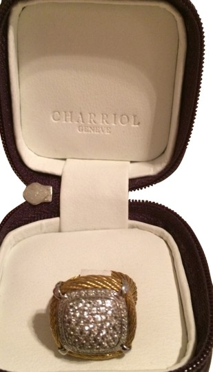 Charriol Charriol stainless and gold sapphire ring