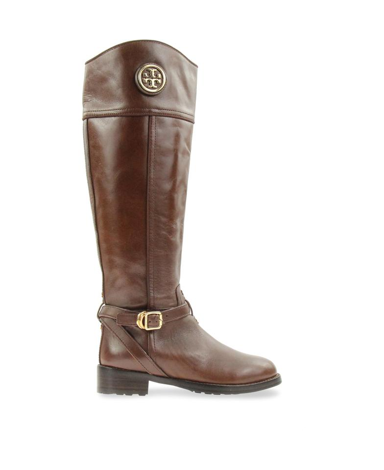 b00499badc12d2 Tory Burch Equestrian-inspired Finished Leather Side Zip Closure Imported  Brown Boots Image 0 ...