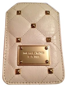Michael Kors Off white/ cream and gold Clutch