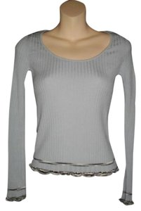 M Missoni Lettuce Edge Design Delicate Binding Sweater