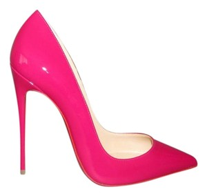 Christian Louboutin Pointed Toe With Box Red Sole Ultra Rose Pumps