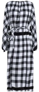 Tibi short dress Black and White Mid-length Belted Checked on Tradesy