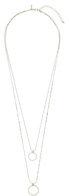 Item - Gold Double Row Open Circle Layering Necklace