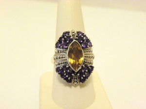 Nicky Butler Nicky Butler 4.10ctw Citrine and African Amethyst Ring 9