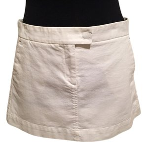 Theory Mini Twill Cotton Stretch Mini Skirt White