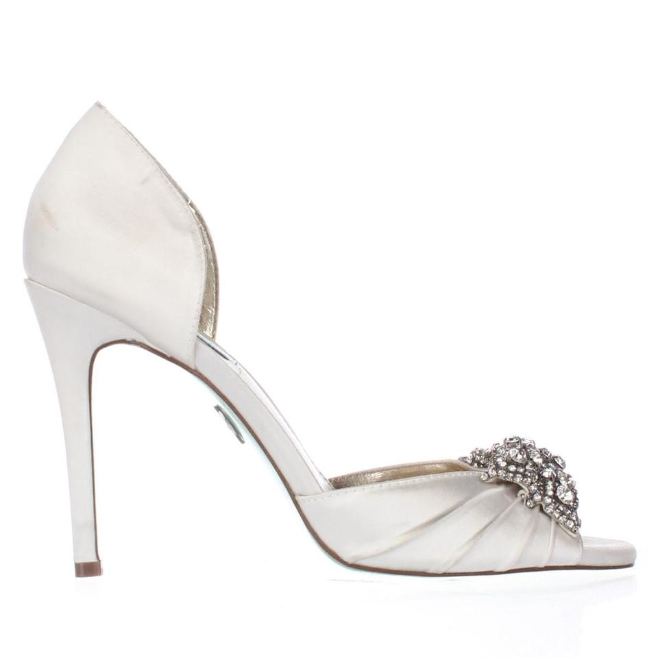 Betsey Johnson Beige Blue By Gown Dress Sandals Ivory Display Pumps ...