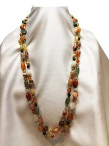 2- Semi-Precious Tumbled Stone Necklaces [ Roxanne Anjou Closet ]