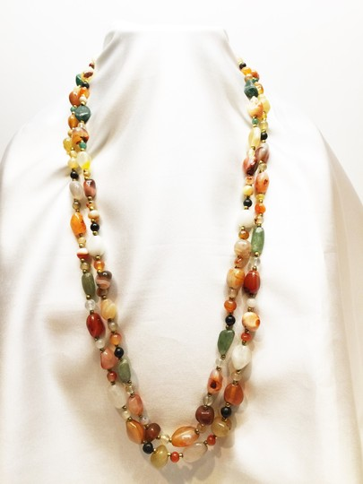 Other 2- Semi-Precious Tumbled Stone Necklaces [ Roxanne Anjou Closet ]