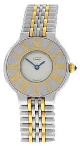 Cartier Ladies Cartier Must de Cartier 125000P Bullet Quartz Steel Gold 28MM