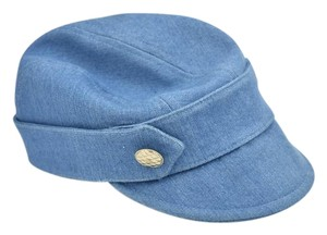 "Chanel Blue & ""CC"" Logo, Cabbie/Newsboy Hat Sz: M (7 1/8)"