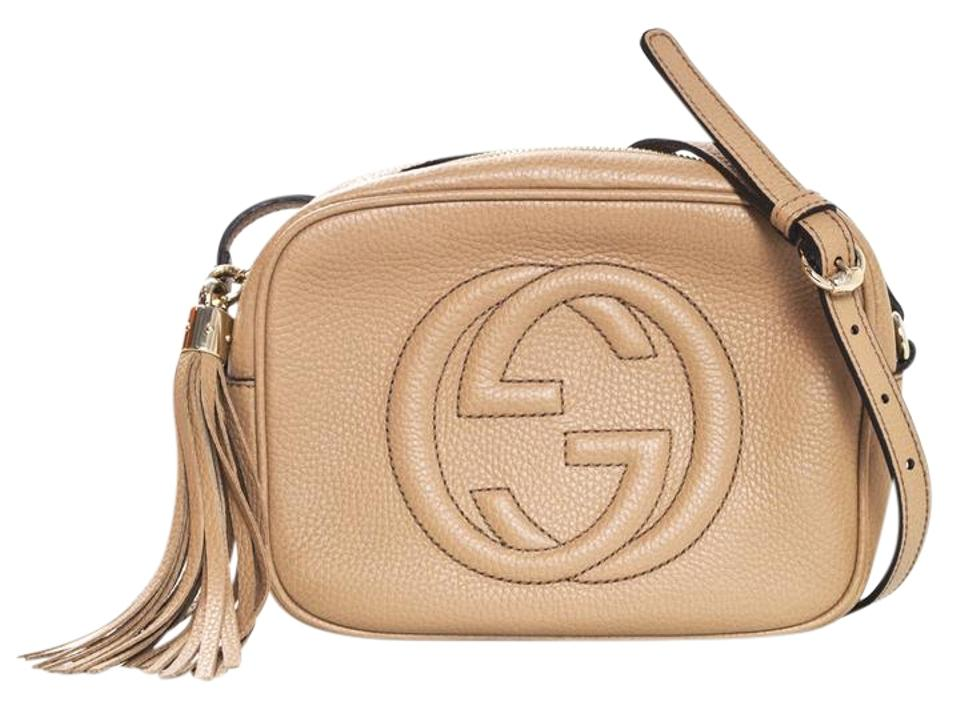 ecd4b4504bba Gucci Soho Disco Camera Rose Beige Leather Cross Body Bag - Tradesy