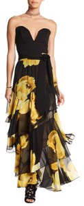 TOV Holy Floral Maxi Skirt Yellow/Black