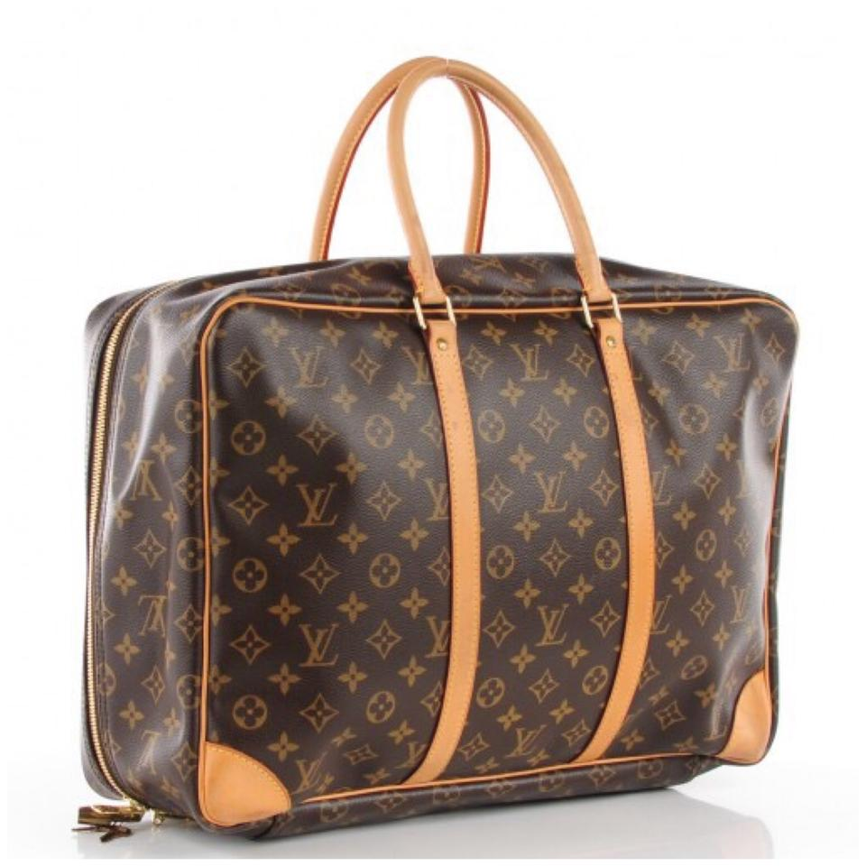 louis vuitton brown leather sirius weekend travel bag tradesy. Black Bedroom Furniture Sets. Home Design Ideas
