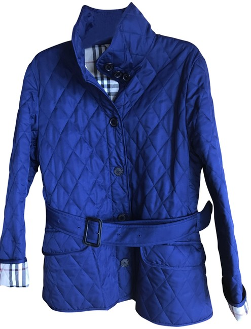 Item - Sapphire Blue Diamond Quilted Jacket Size 6 (S)
