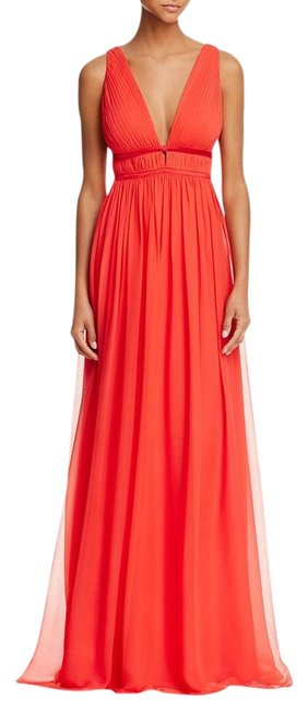 Item - Red Pleated Goddess Gown Long Formal Dress Size 6 (S)