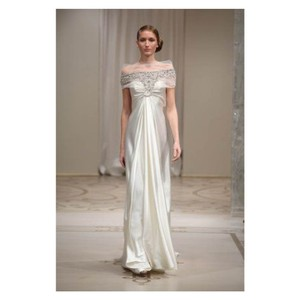 Reem acra wedding dresses up to 70 off at tradesy reem acra ivory silk fantasia 4102 dress size 4 s junglespirit Image collections
