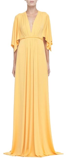Item - Yellow Kimono Sleeve In Quince Small Long Casual Maxi Dress Size 6 (S)