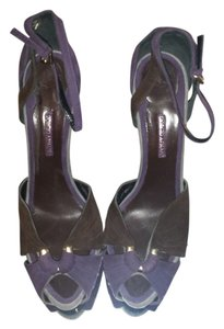 Giorgio Armani Suede purple/brown/gray Platforms