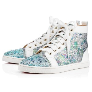 Christian Louboutin Bip Strass Crystal Sneaker Trainer white Athletic