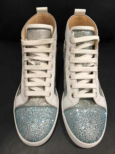 Christian Louboutin Bip Strass Crystal Sneaker Trainer white Athletic Image 4