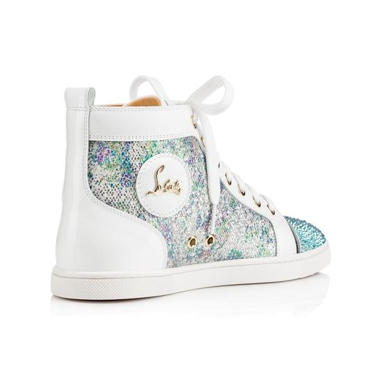 Christian Louboutin Bip Strass Crystal Sneaker Trainer white Athletic Image 5