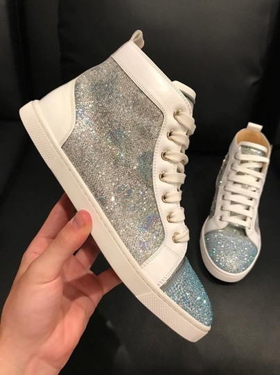Christian Louboutin Bip Strass Crystal Sneaker Trainer white Athletic Image 7